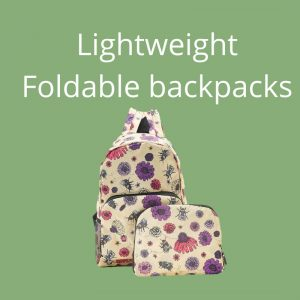 Eco Chic Foldable Backpacks